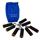 Annastore Griff Handtrainer Fingertrainer 4-er Set - 4 Gewichtsklassen Fitness Finger Gewichte
